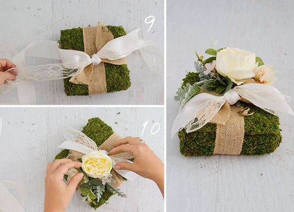 How To Make A Wedding Ring Pillow Boho Rustic With Moss