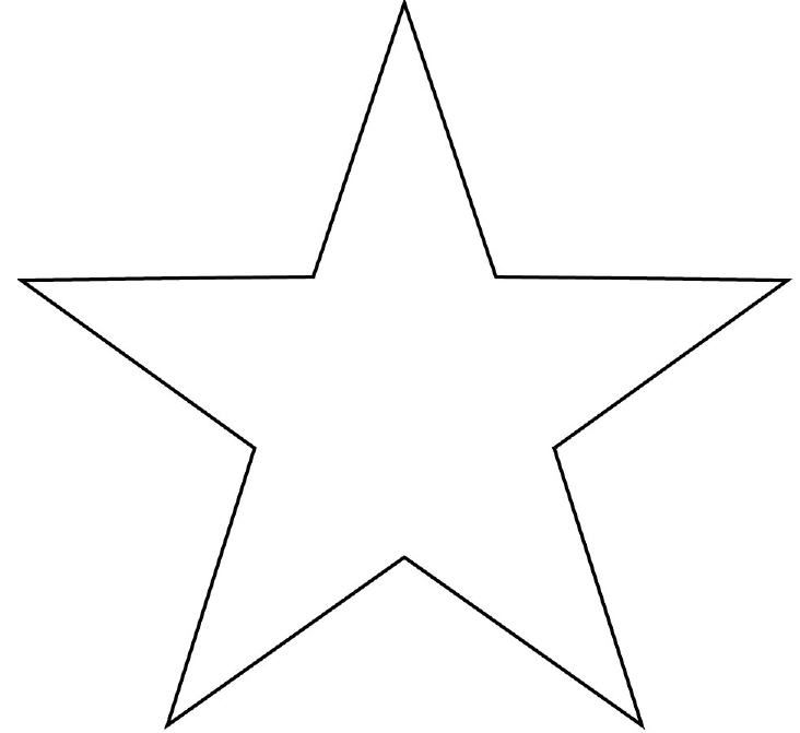 image relating to Star Printable known as Determine Of A Star Form Outlines Star template, Star
