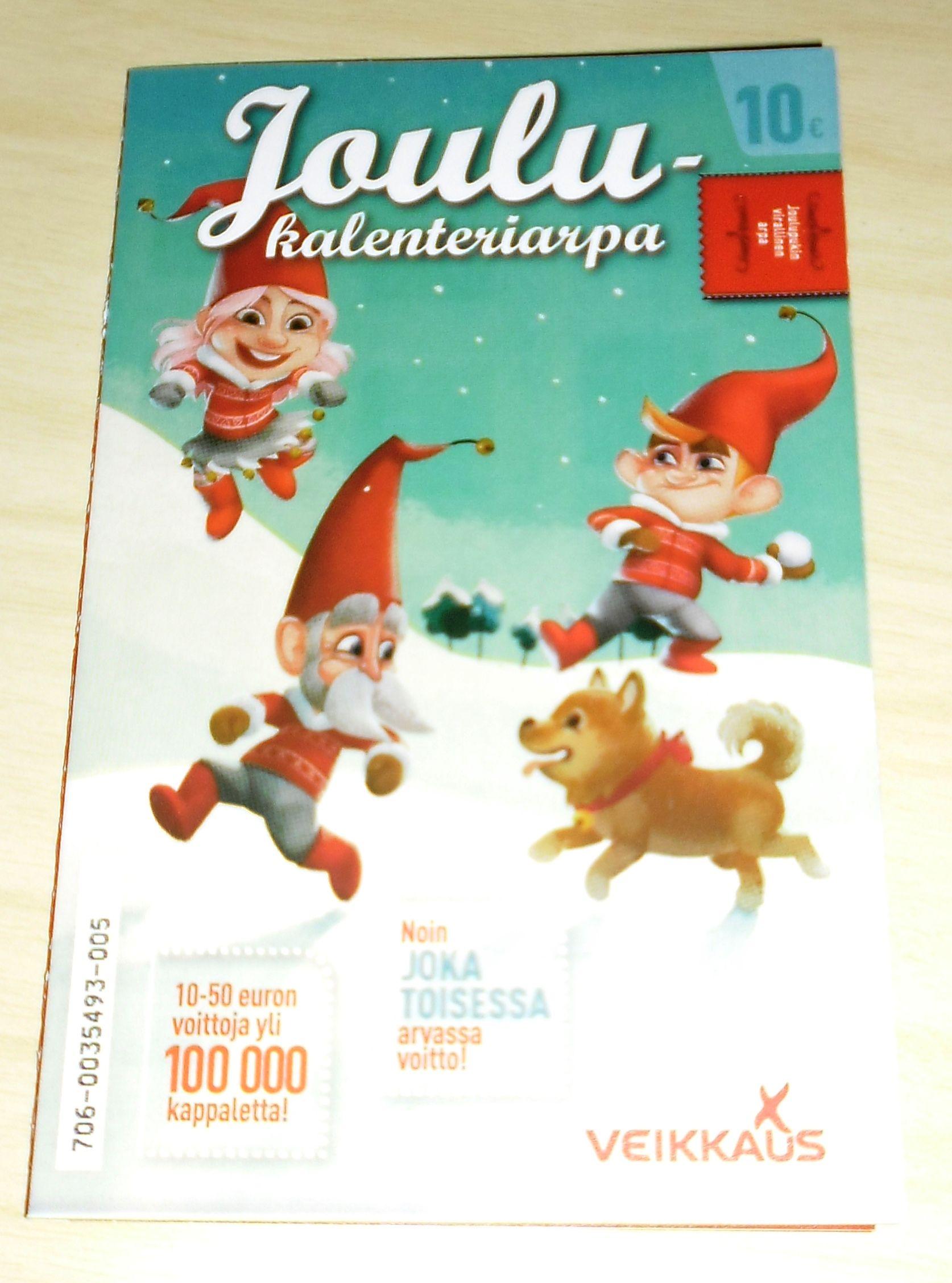 veikkausken joulukalenteri
