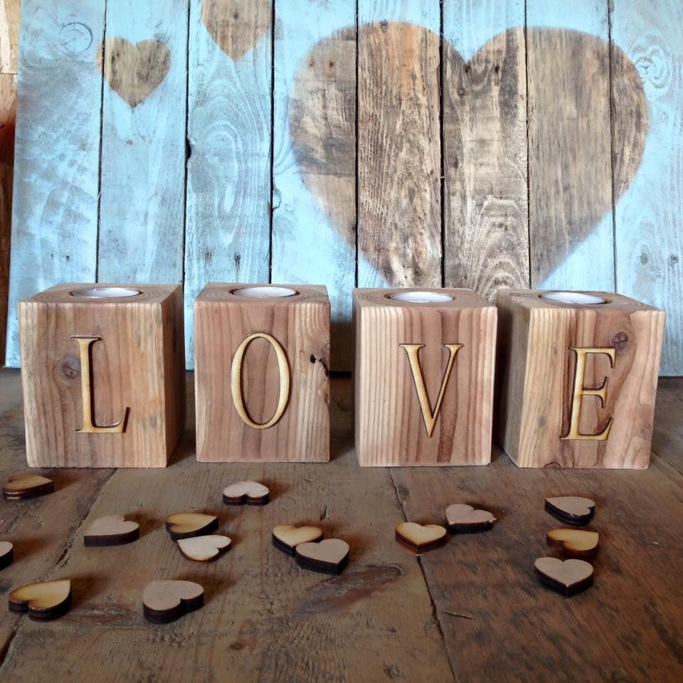 Wooden Pallet Candle Holder Ideas Valentine