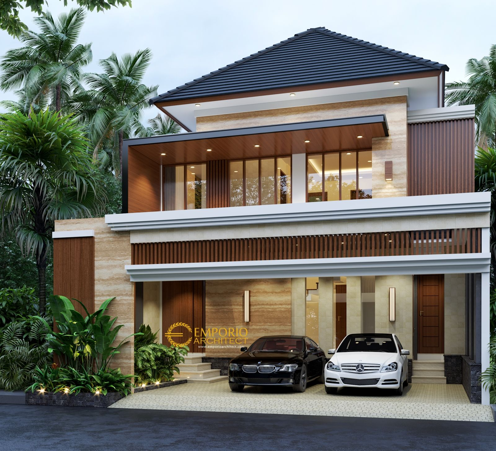 Jasa Arsitek Desain Rumah Berkualitas Desain Villa Bali Modern Tropis Profesional Berpengalaman Dari Emporio Rumah Arsitektur Modern Desain Rumah Arsitektur
