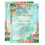 Tropical Hibiscus Summer Birthday Party Invitation | Zazzle.com #tropicalbirthdayparty