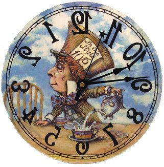 Image result for pictures of the clock in alice in wonderland