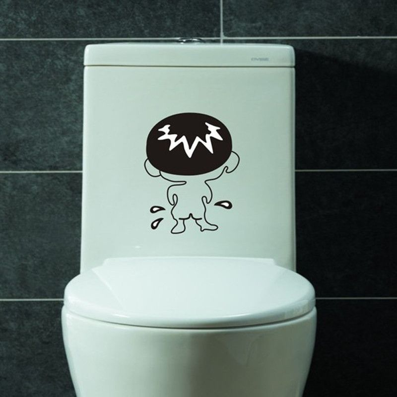 1pcs Bathroom Wall Stickers Toilet Home Decoration Waterproof Wall