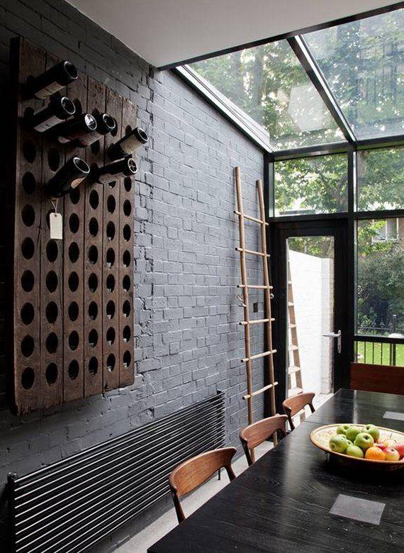 Moderne Küchengestaltung moderne küchengestaltung mit glasdach akzentwand aus schwarzen