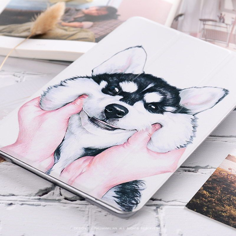 IPad case with dog pattern for inch