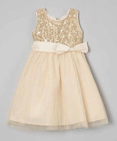 9da7a6b8acb0  9.99 Love this Gold Sequin A-Line Dress - Toddler   Girls on ...