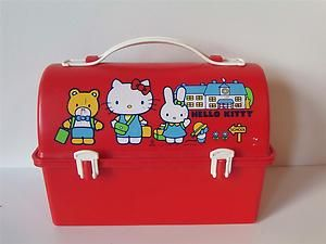 4f48c2cc4 Vintage 1981 80's Sanrio Hello Kitty Red Plastic Lunch Box Lunchbox | eBay