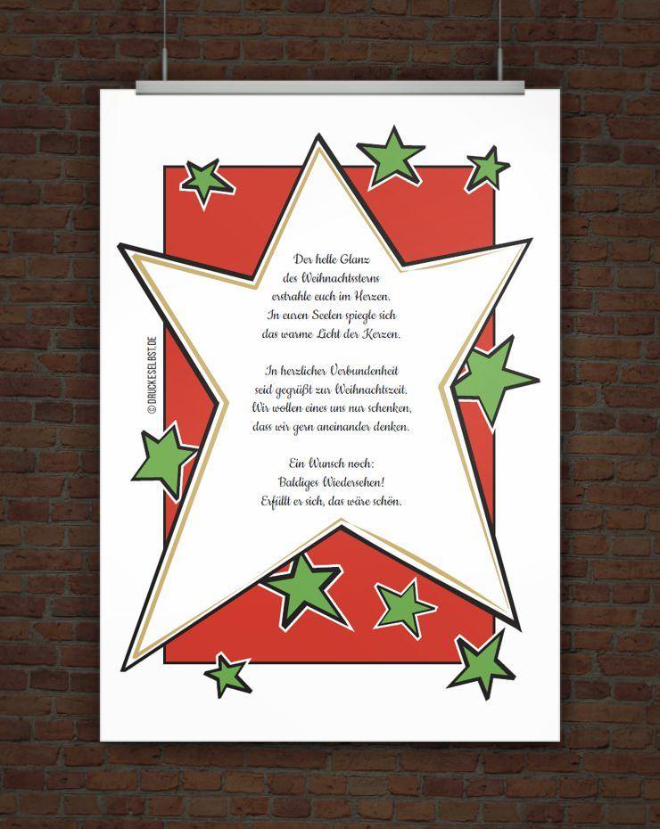 Kostenlose weihnachtskarte zum ausdrucken for Weihnachtskarten basteln vorlagen kostenlos