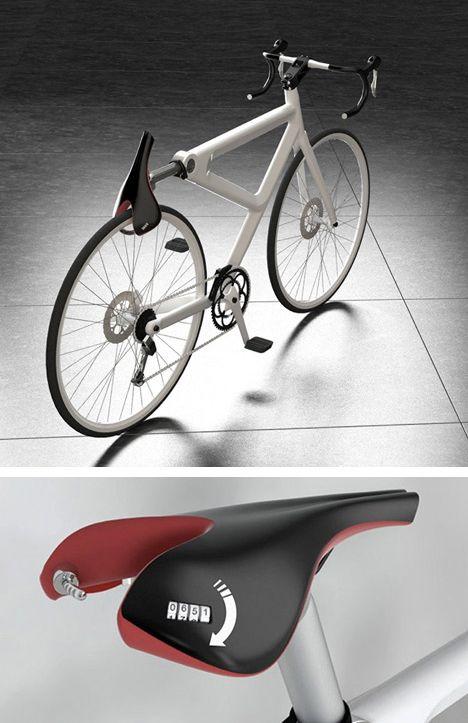 Saddle Lock This Red Dot Award Winning Concept Turns A Pivoting