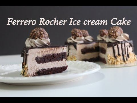 Ferrero Rocher Ice cream Cake| Eggless | Nutella Ice Cream