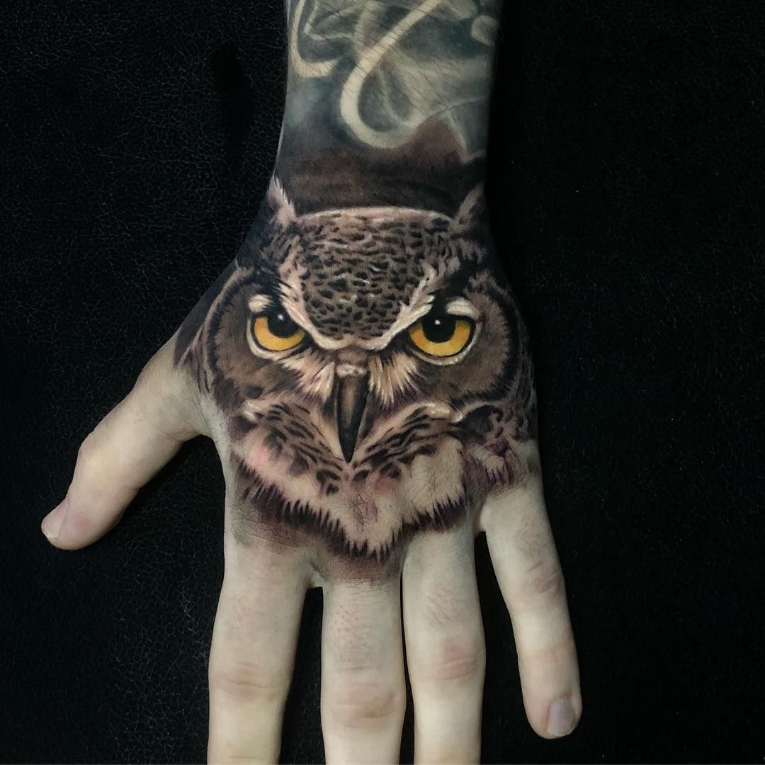Sam Andrews On Instagram Ant Posted In Ages Owl Hand Job Done Today Owl Owltattoo Handtattoo Tattoo Tattoos In 2020 Hand Tattoos Lion Hand Tattoo Owl Tattoo