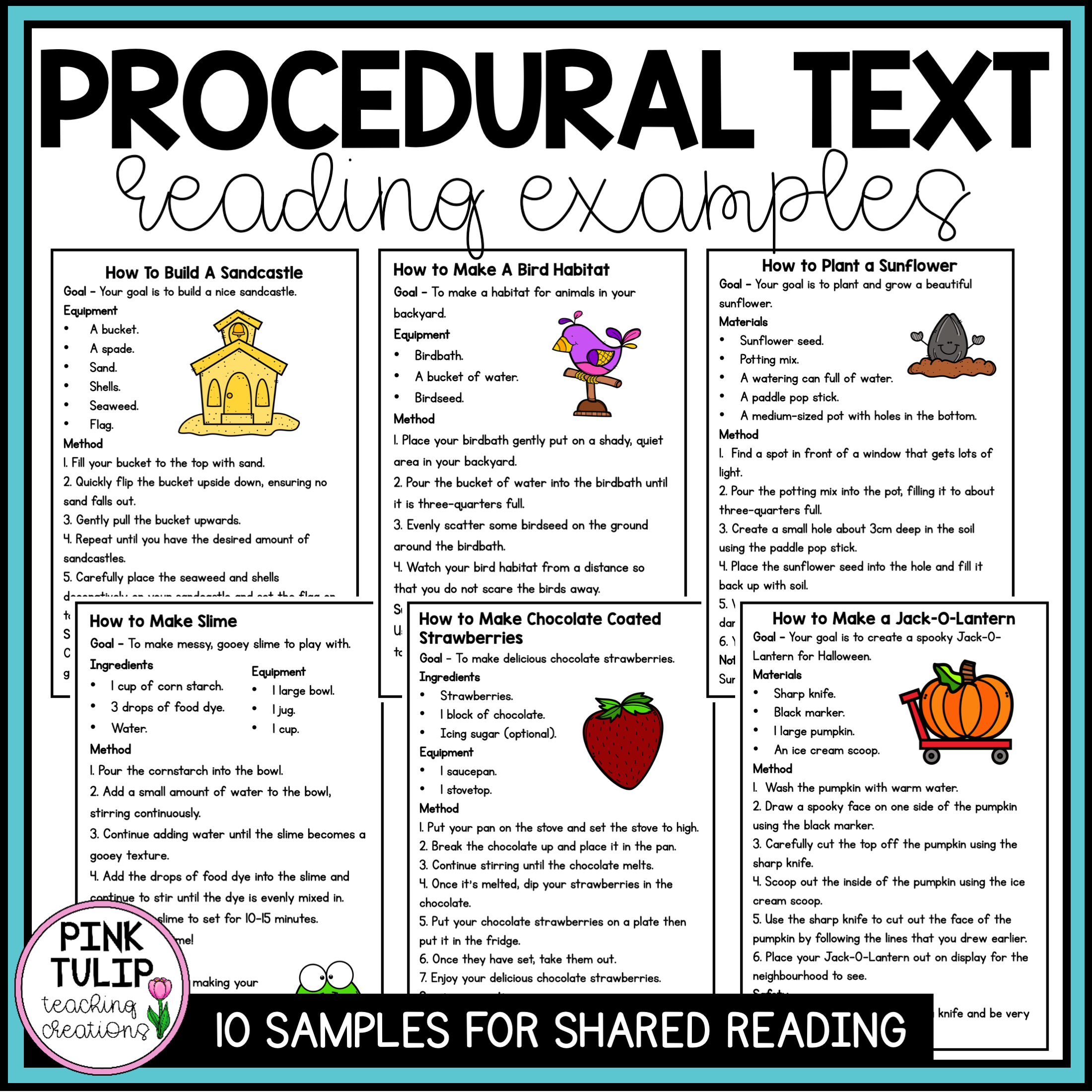Procedural Text Examples - 10 Reading Samples   Procedural text [ 2200 x 2200 Pixel ]