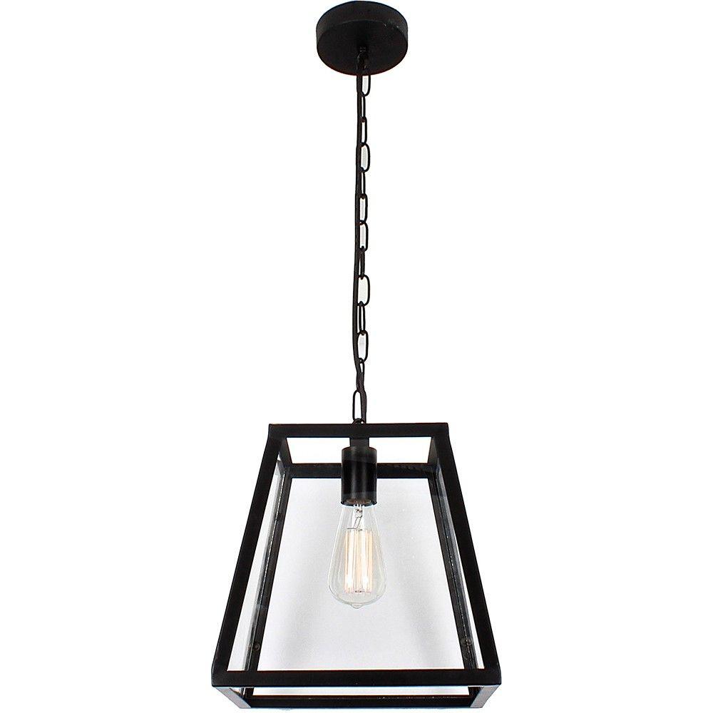 L2 1646 Vandm Credwick Square Black Frame Pendant Light Range 0723