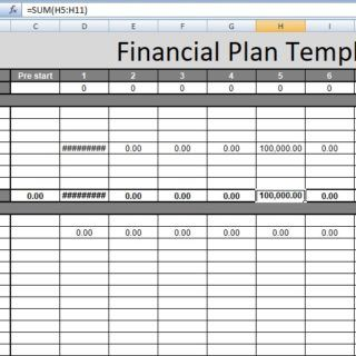 Financial Plan Template Excel Free  Financial Management