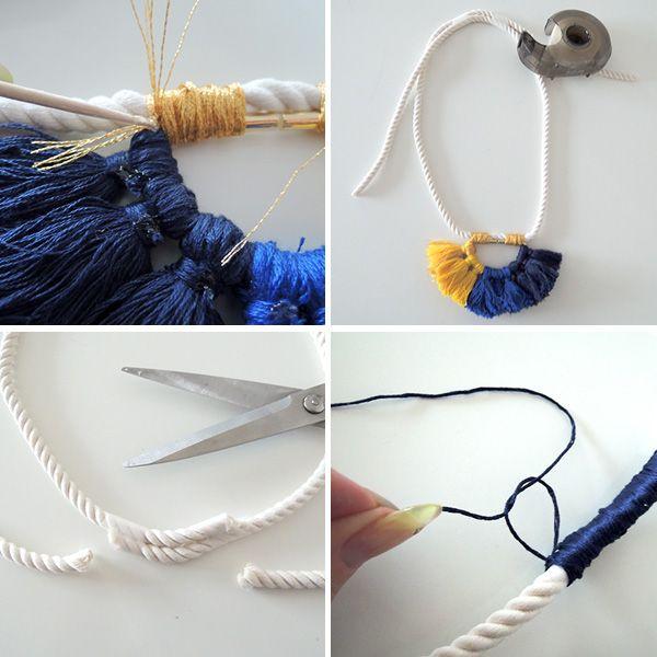 Diy Anthropologie Colorful Summer Tassel Necklace Tassel Necklace Tassels And Anthropologie