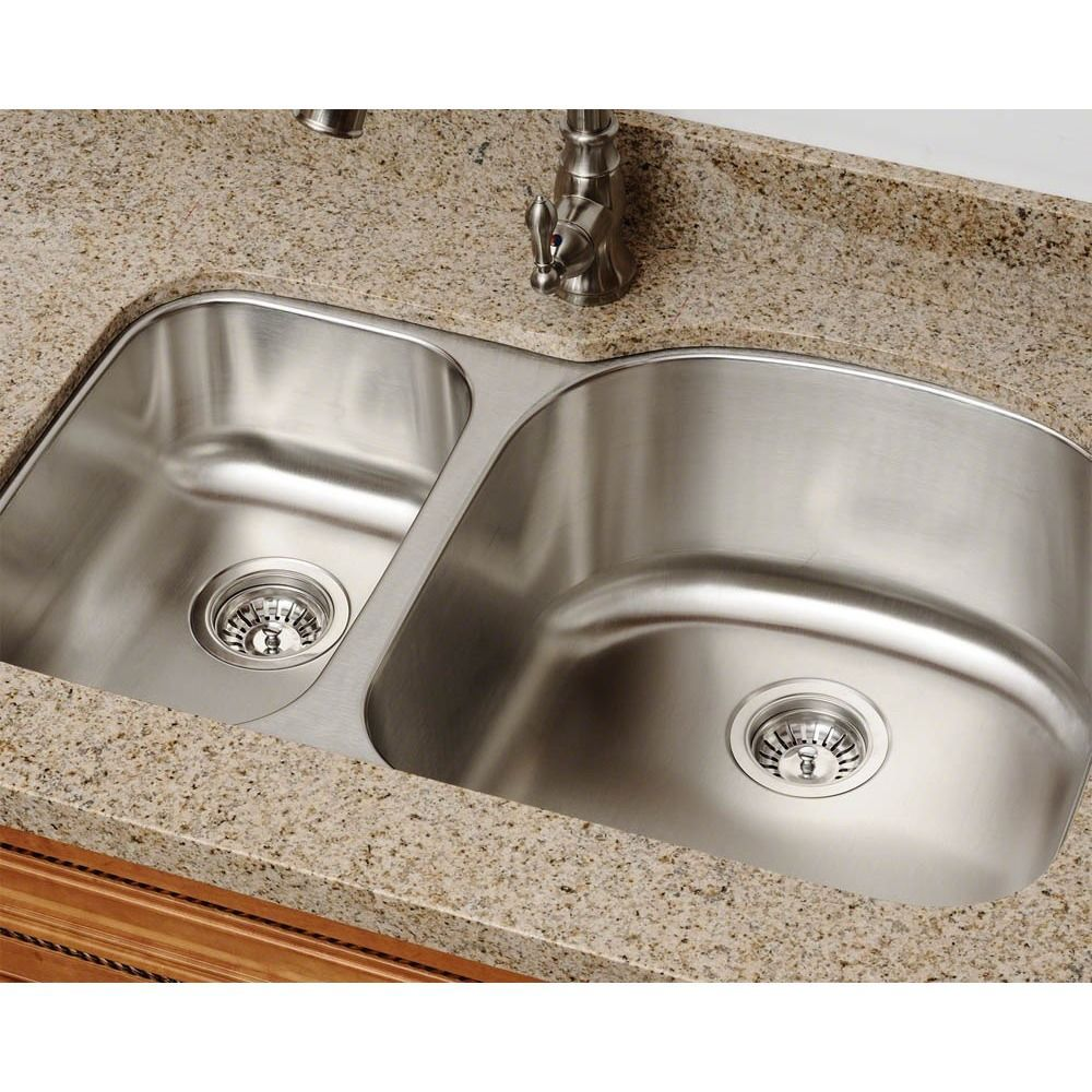 510 Equal Double Bowl Stainless Steel Sink 18-Gauge Ensemble