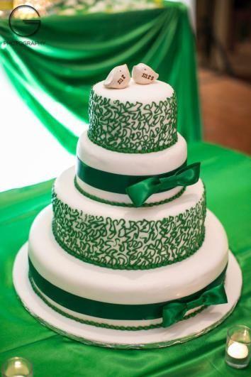 May Wedding Think Emerald Green Wedding Cake Wedding Cakes Blue Wedding Cakes