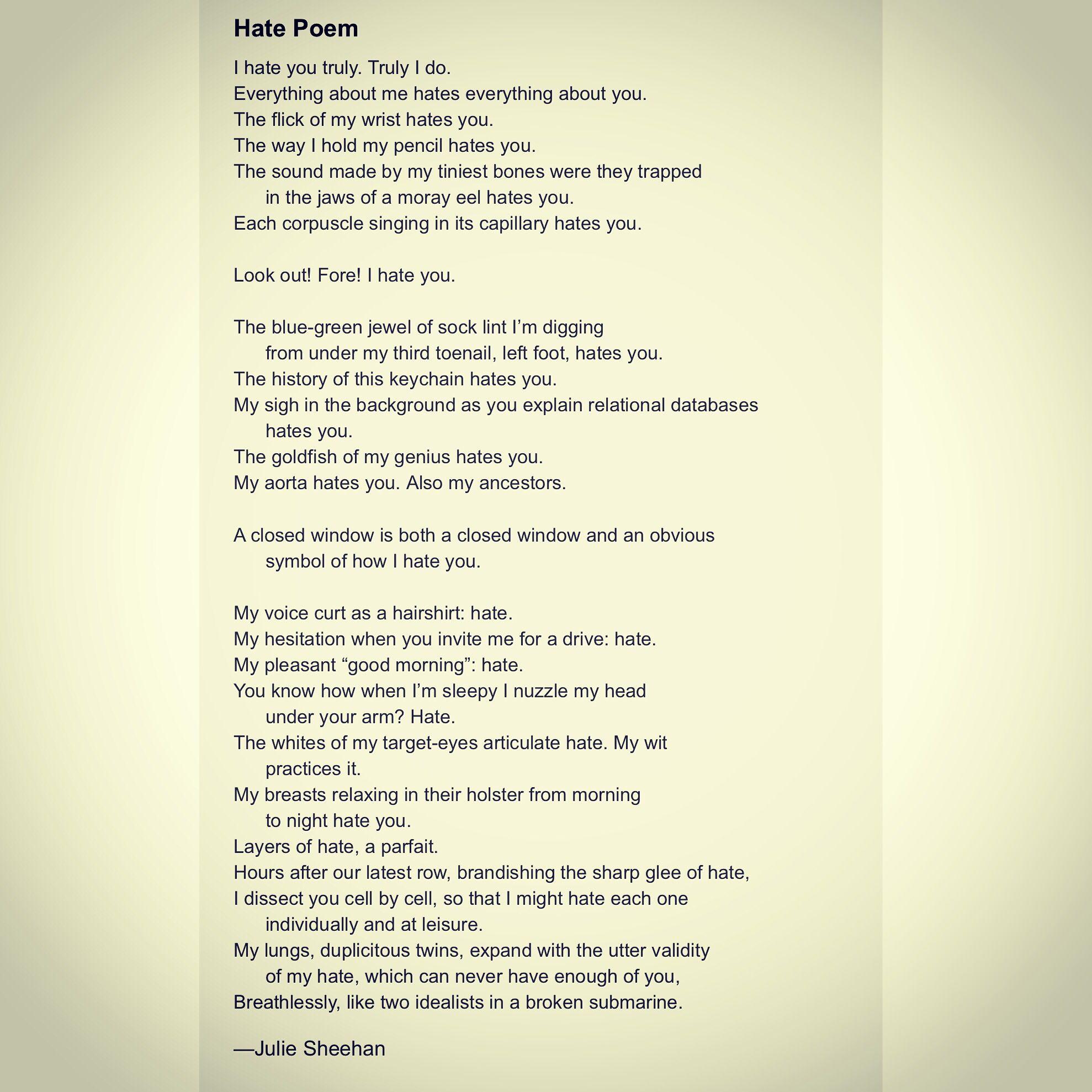 Hates Poems 3