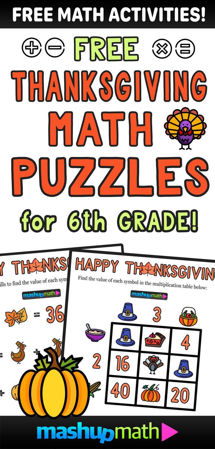 12 Thanksgiving Math Activities For Grades 1 8 Mashup Math In 2020 Thanksgiving Math Thanksgiving Math Activities Math Activities [ 1563 x 750 Pixel ]