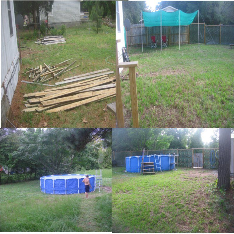 Privacy Fence Done Cheap Free Wood From Craigslist Tarp Panels Framed Has Survived A Tropical Storm Diy Backyard Privacy Fence Panels Diy Home Improvement