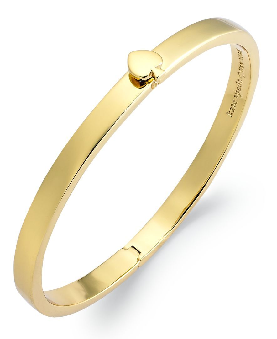 Kate spade new york bracelet k goldplated spade hinged thin