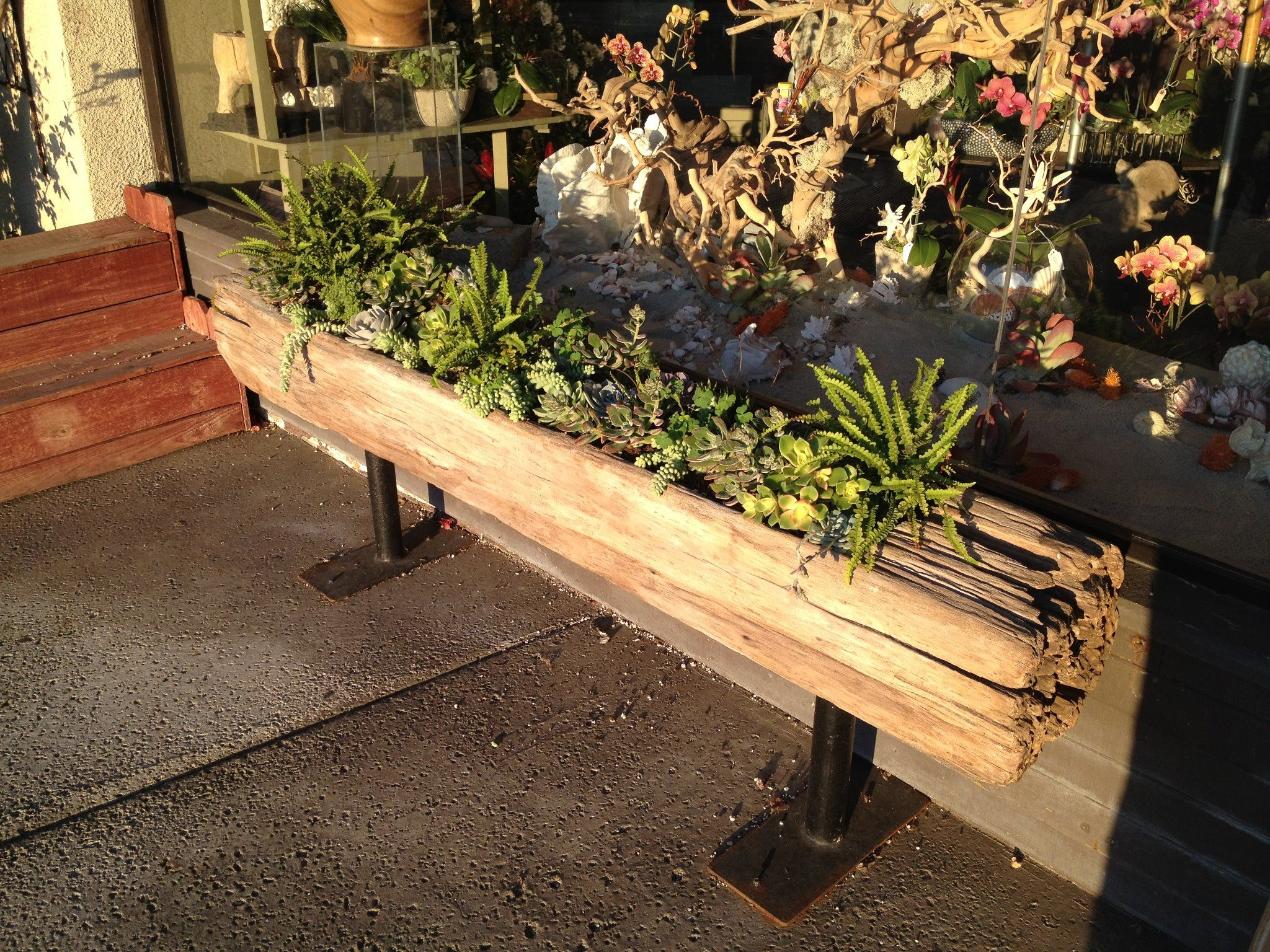 Railroad tie planter Outside rooms Pinterest
