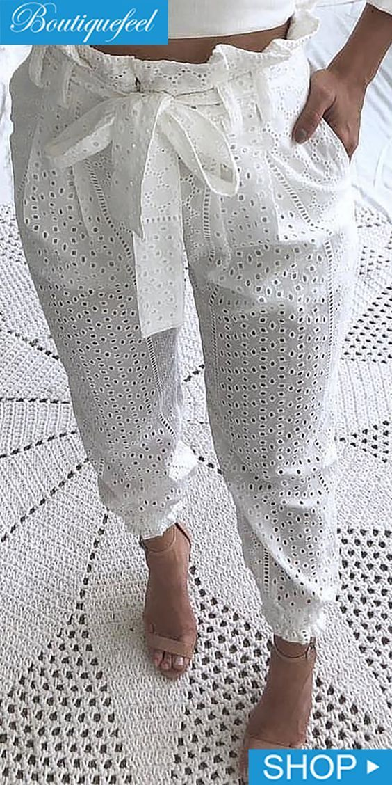 Calça Pantalona Ilhós