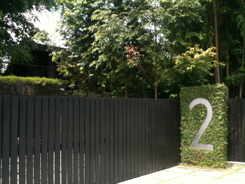House Numbers So Many Possibilities Black Garden Fence