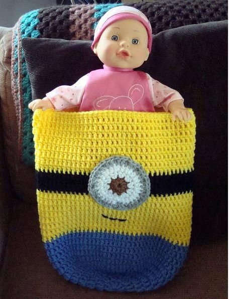 Minion-Inspired Crochet Baby Cocoon | This Minion crochet pattern is ...