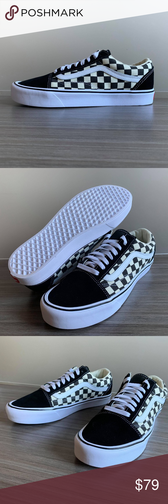 Vans Old Skool Checkerboard Lite Ultracush Shoes Give A Nod To The Past While Embracing The Future Of Lightweight Performance W Vans Old Skool Vans Womens Vans