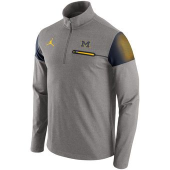 Brand Jordan Michigan Wolverines Nike Jumpman Gray 2016 Elite ...