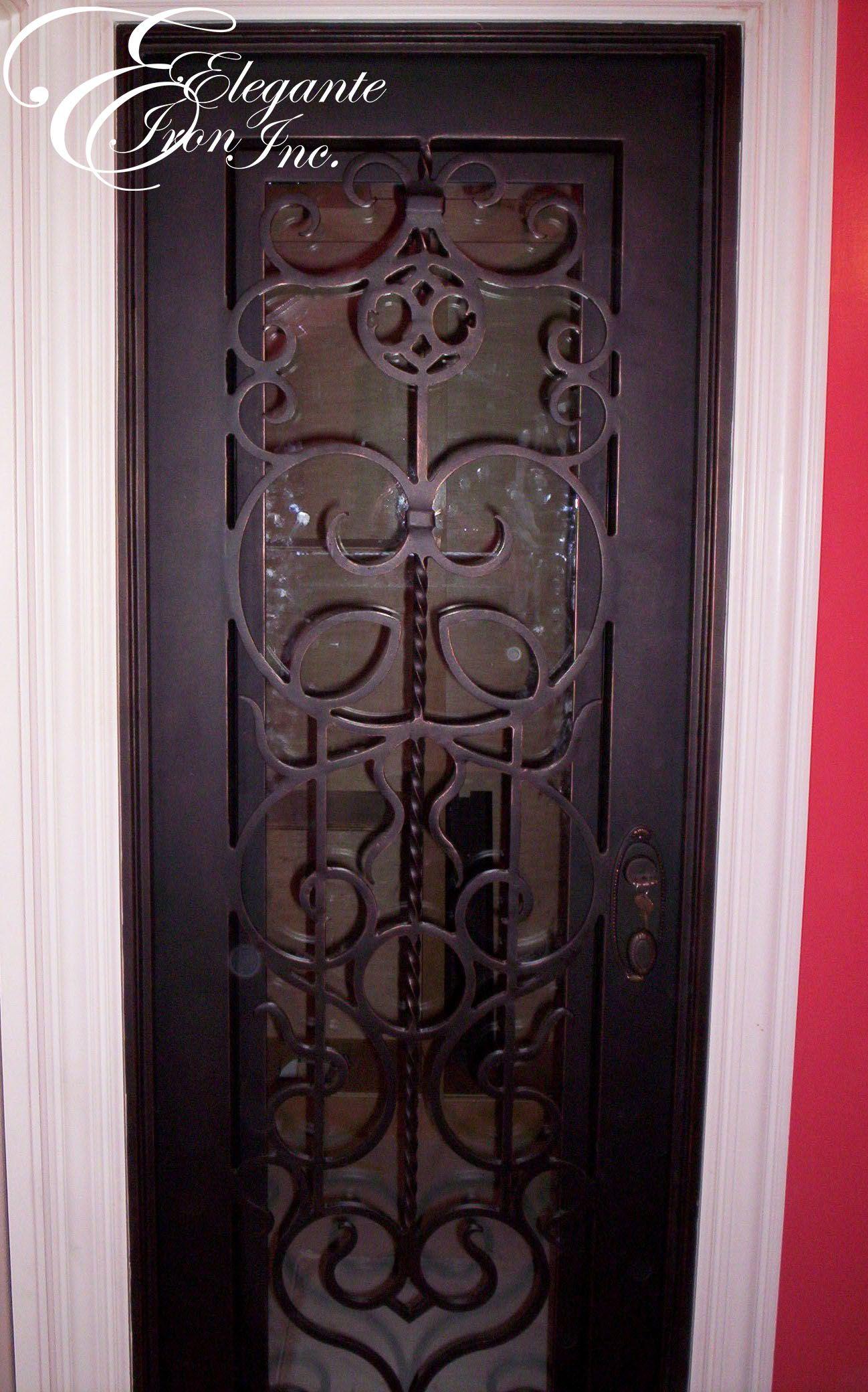 2080 #A5263E Custom Wrought Iron Wine Door. Wine Doors And Other Elegante Iron  picture/photo Custom Metal Doors 13491298