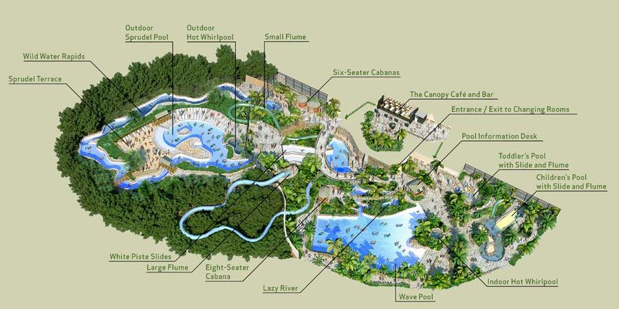 Longleat Centre Parcs Map Longleat Forest STSP map | Centerparcs | Water playground, Park