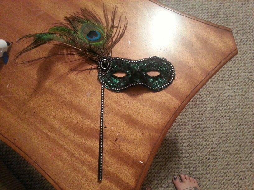 My sisters masquerade Prom mask I made from a cheap plastic mask.