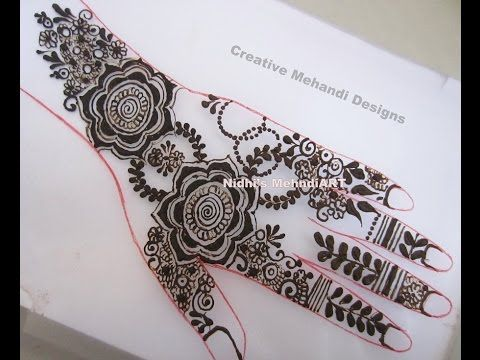 Glorious Floral Back Hand Henna Mehndi Design Tutorial - YouTube
