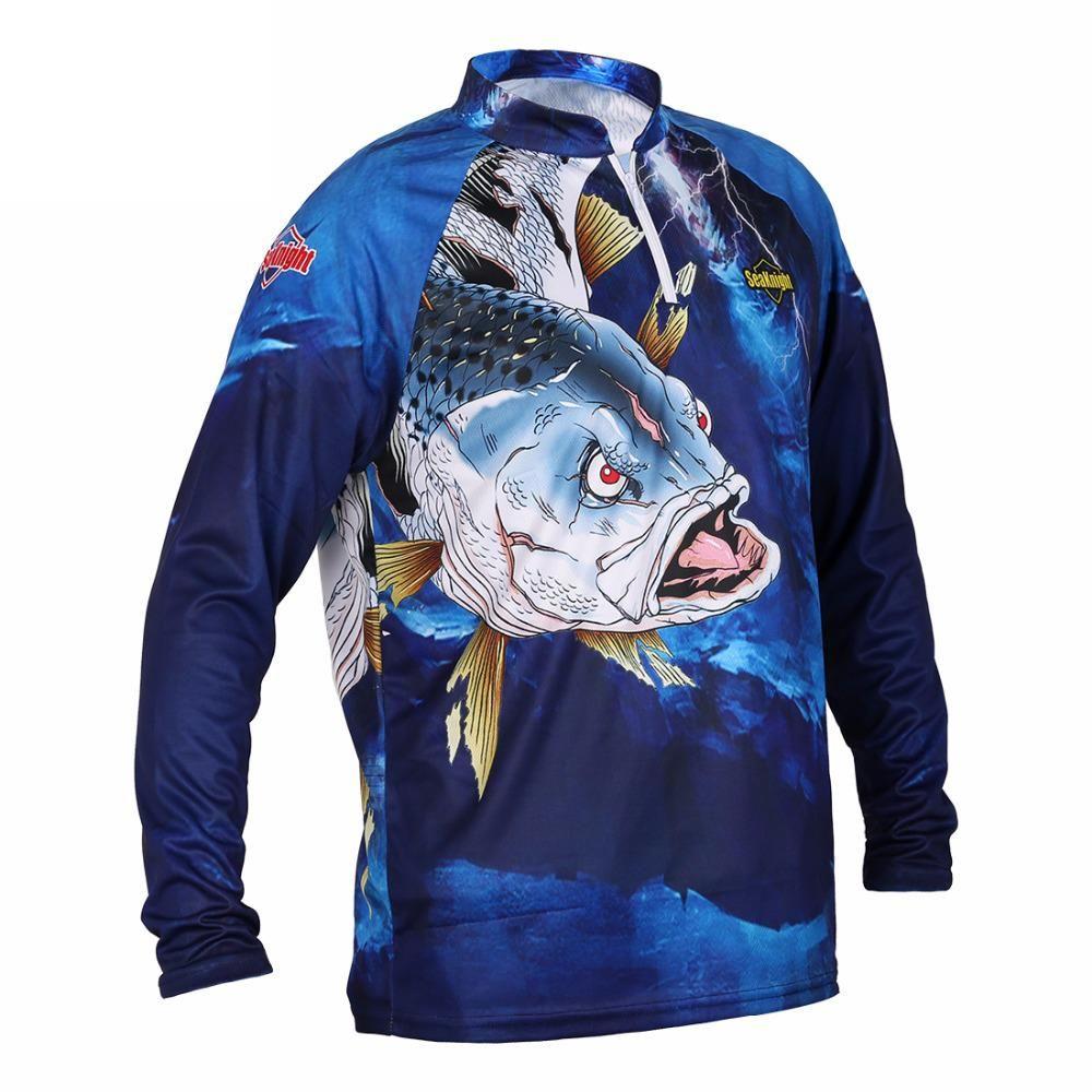 410ec0c3a SEAKNIGHT SK004 pesca Ropa de manga larga de verano secado rápido Camiseta  transpirable anti-UV