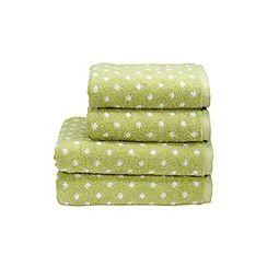 Christy - Pistachio 'Georgia Spot' towels
