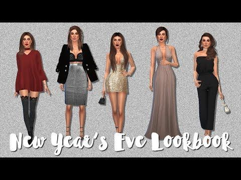 The Sims 4 ♡ NEW YEAR'S EVE LOOKBOOK ♡ FULL CC LIST   Sims ...