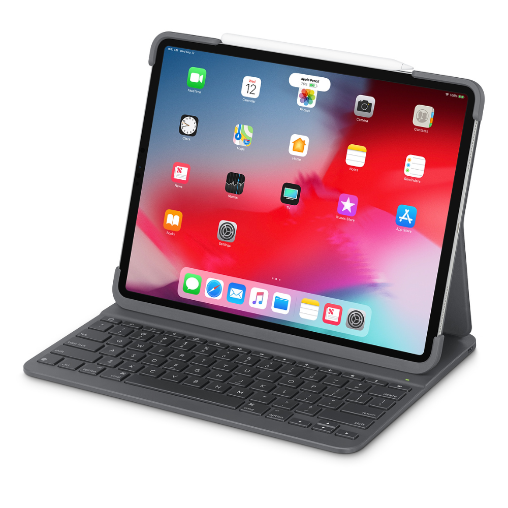 Logitech Slim Folio Pro Case With Integrated Bluetooth Keyboard For 12 9 Ipad Pro 3rd Generation Apple Ipad Pro