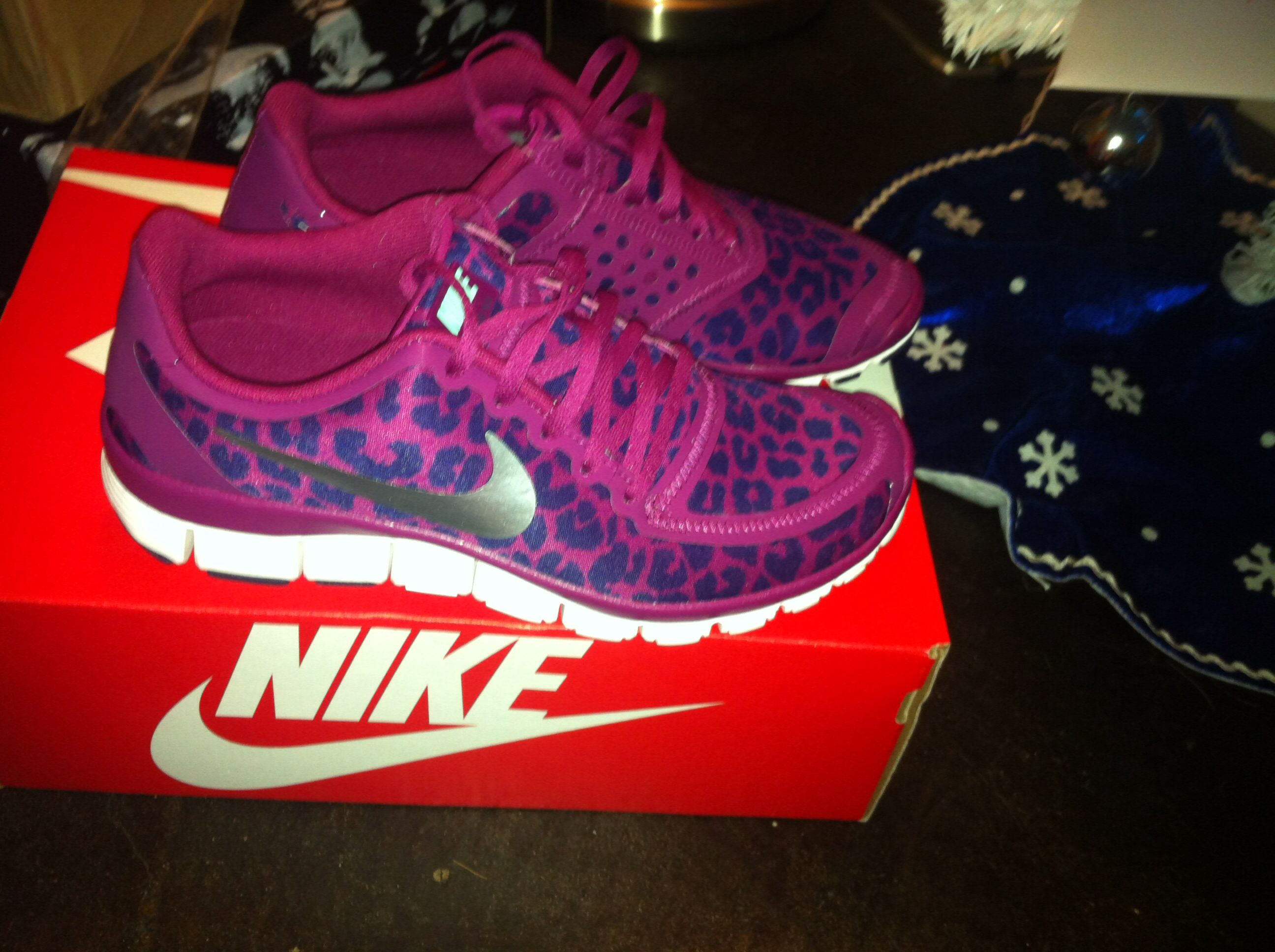 I could totally run faster if I had these! leopard nike running shoes