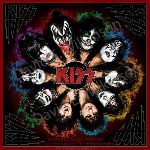 Kiss Komplete Kisstory Art Giclee Album Poster Print By David E
