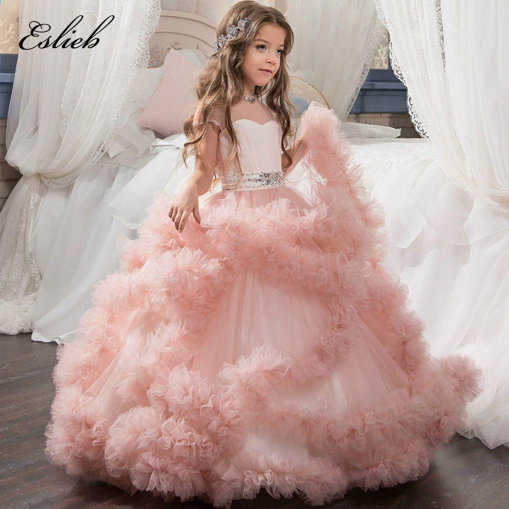 Nach Maß 100% Blume Mädchen Kleider für Hochzeiten erste Kommunion ...