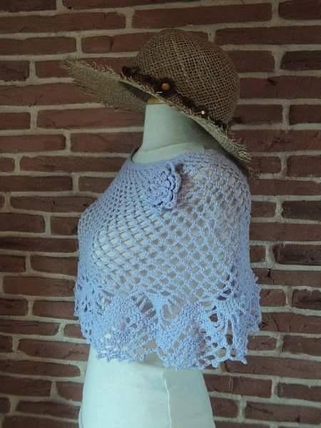 Ideas para el hogar: Chal con patrones | chal-ponchos-bufandas ...