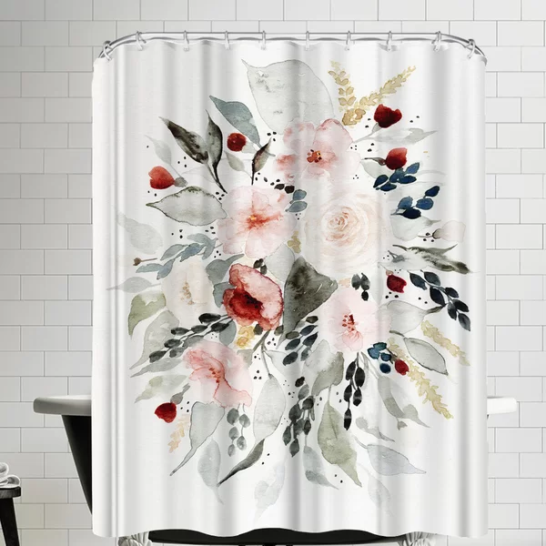 East Urban Home Loose Bouquet Single Shower Curtain Wayfair