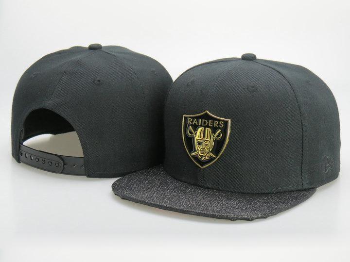 645e588eddb Men s Oakland Raiders New Era Gold Metallic NFL Team Logo 9Fifty Customized  Brim Snapback Hat - Black   Grey