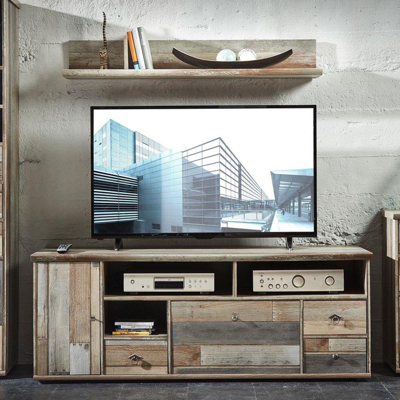 Wohnzimmermobel Weiss Hochglanz Fernsehschrank Buche