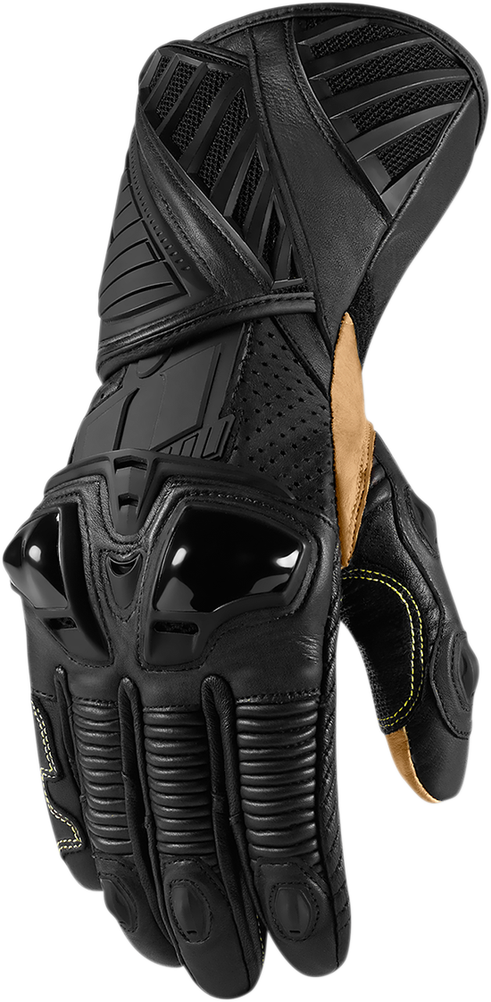 Icon Hypersport Long Glove Stealth 180 Motorcycle