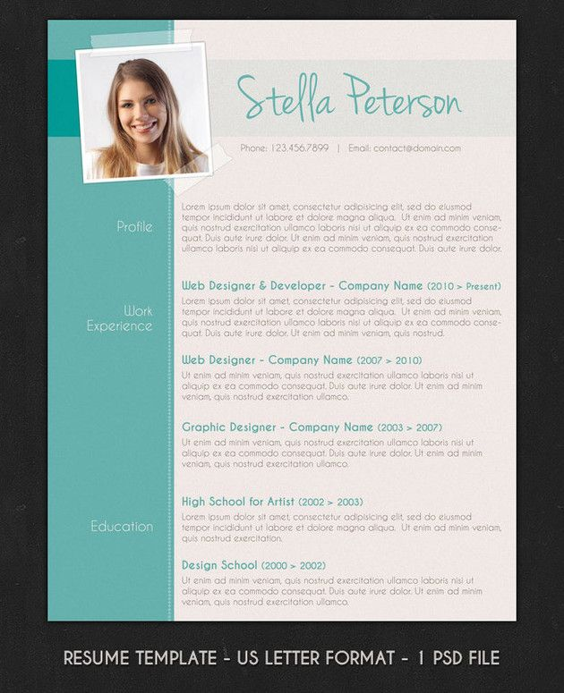 Modern Resume With Cover Letter By Visual Impact On