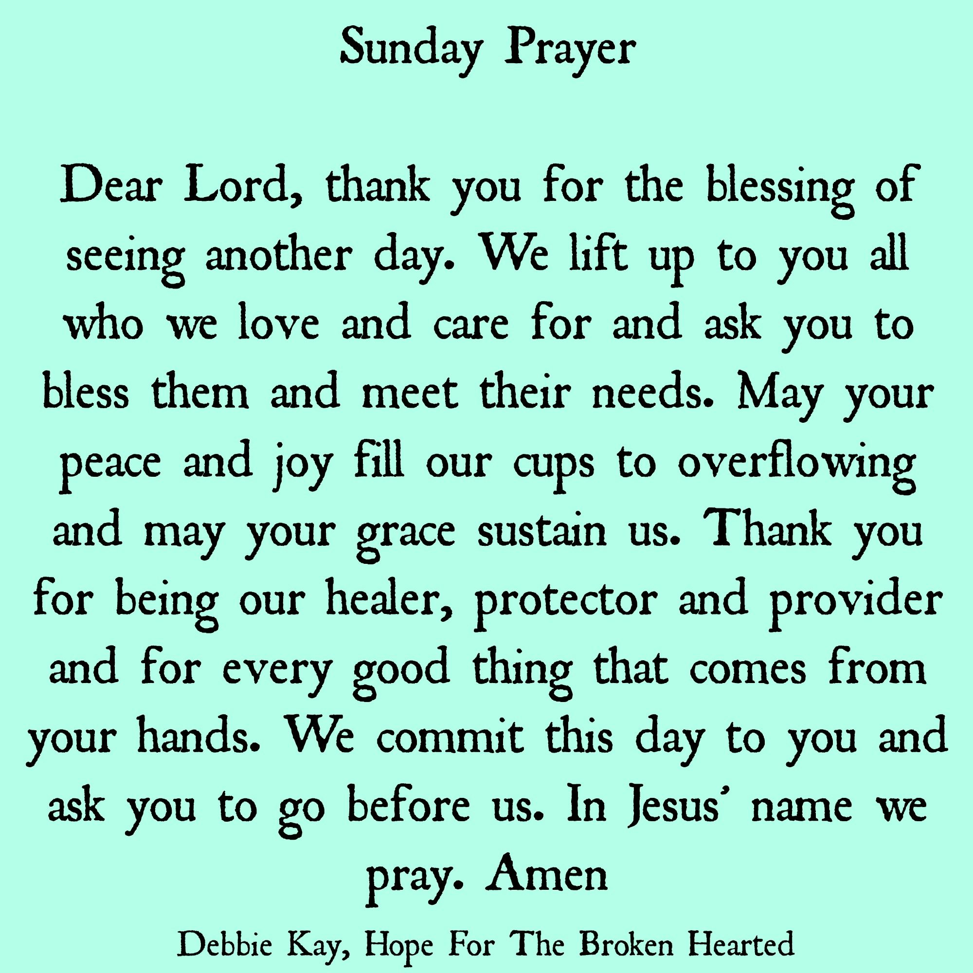 Sunday prayer | Sunday prayer, Sunday morning prayer, Morning prayers